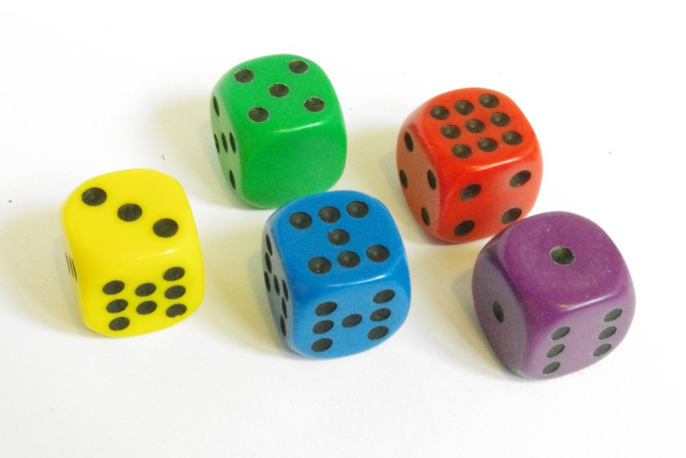 Grime Dice - set of five