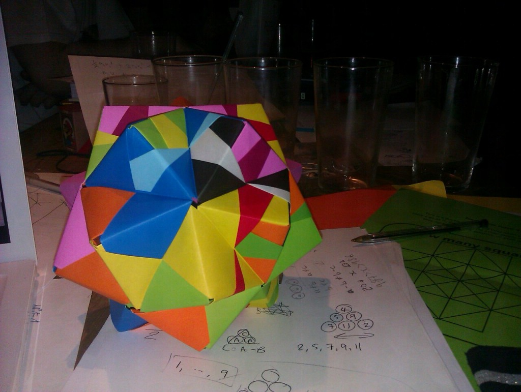 Stellated Icosahedron, Manchester MathsJam, March 2012