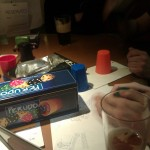 Manchester: A game of Perudo has occurred. We notice the dice on the box diagram are all wrong.