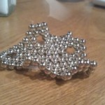 Newcastle: Steven has mastered making buckyball heptagons, so we have another model of hyperbolic space