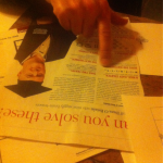 Nottingham: playing with Kit Yates/Marcus du Sautoy/Dara O Briain's Radio Times puzzle page