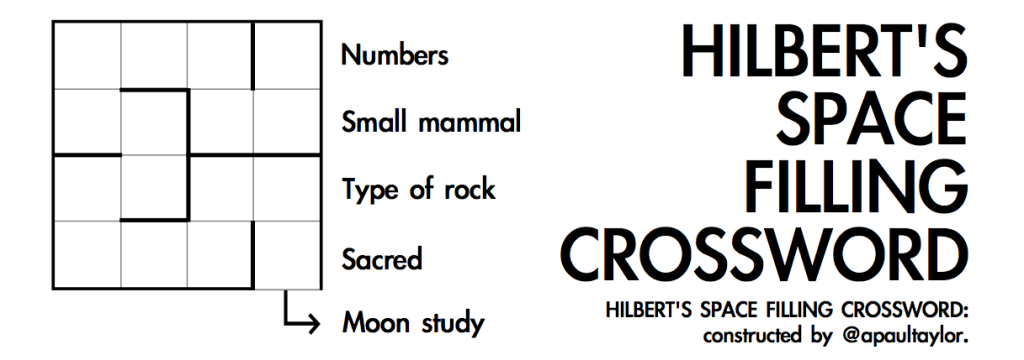 Hilbert's Space Filling Crossword
