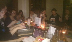 Terrible quality photo, Manchester MathsJam