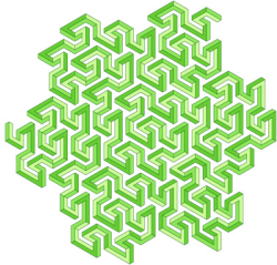 An impossible multibar Peano-Gosper curve by Cameron Browne