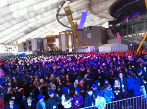 Rubik's Cube world record crowd