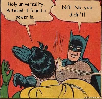 Batman and Robin power law meme