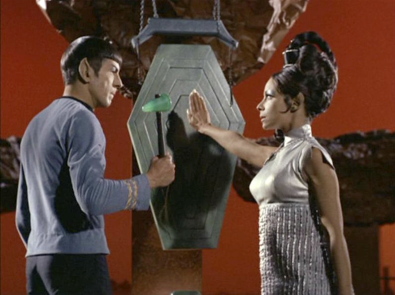 Spock chooses a mate during the Pon Farr