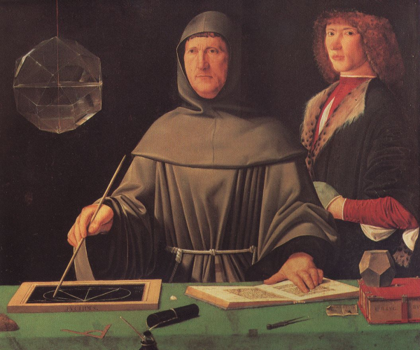 Portrait of Luca Pacioli by Jacopo de' Barbari