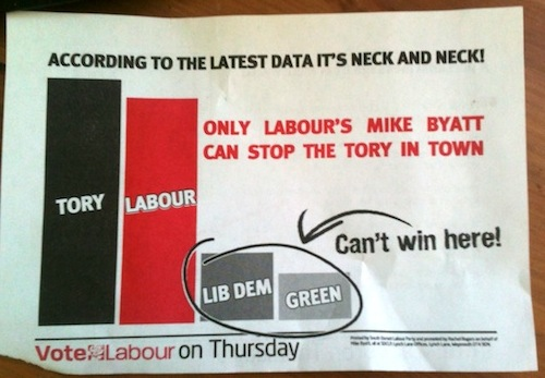 """Only Labour's Mike Byatt can stop the Tory in town!"""