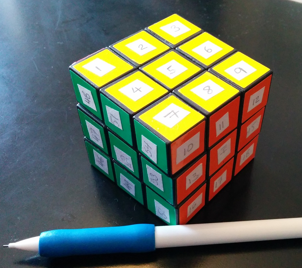 Stickered Rubik's Cube