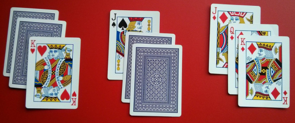 Discovering integer sequences by dealing cards