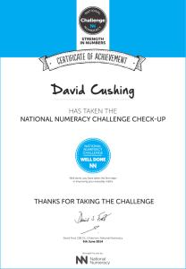 cushing certificate