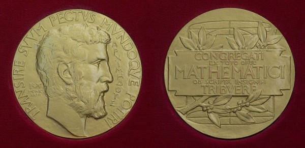Fields medal, pictured front and back