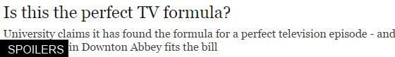 perfect tv formula
