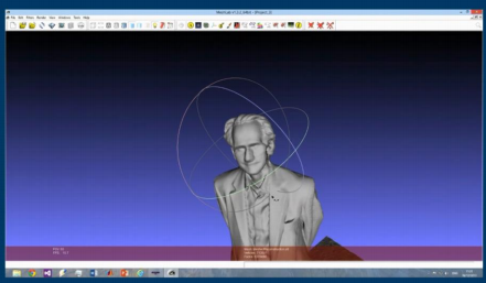 The 3D scan of Béla Bollobás, from Andrew Gibb's lecture on the subject
