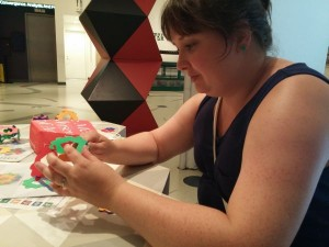 helen making a dodecahedron