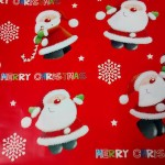 In this one, Santa looks guilty being caught holding a candy cane. If anyone's allowed to do that, surely it's Santa?