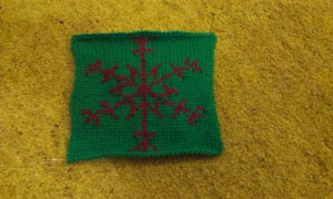 Nicola's knitted snowflake entry