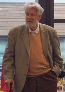 Sir Christopher at the Warwick Mathematics Institute in December 2009. Photo by Nicholas Jackson.
