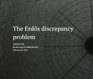 erdos discrepancy problem