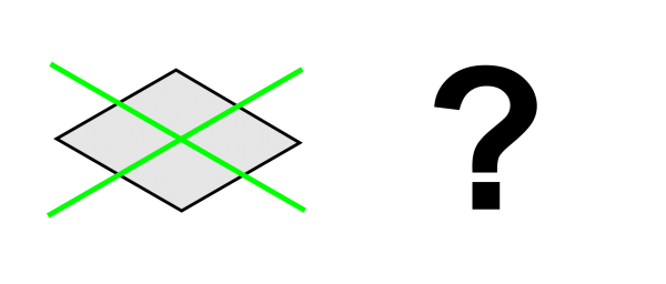 Rotogon based on a square rotated around two perpendicular axes