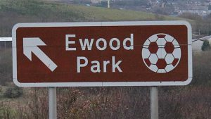 Ewood Park football ground sign