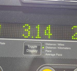 Treadmill reading 3.14km