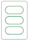 3 green plain ovals