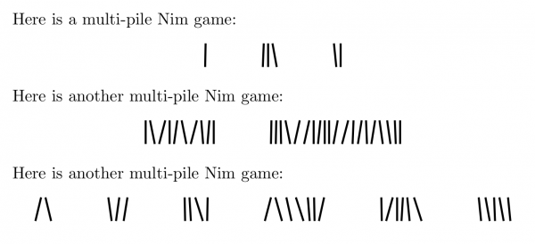 Output of Nim typesetting