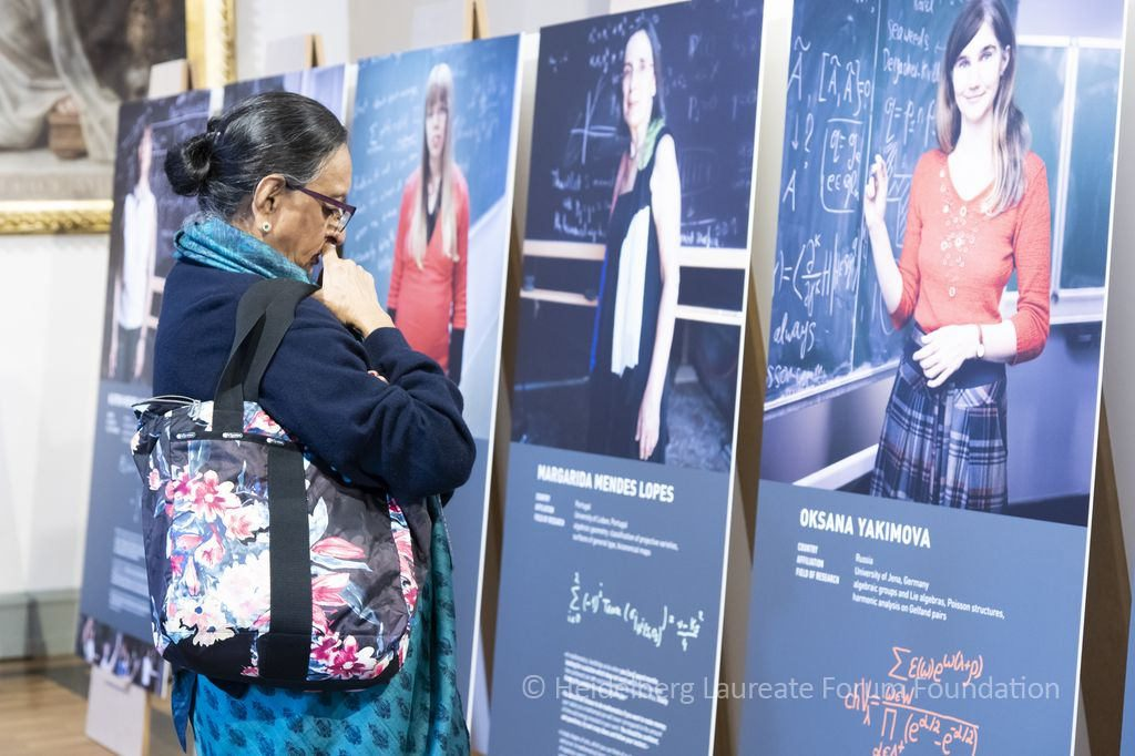 From Women in Mathematics Exhibition opening, © HLFF / Mück