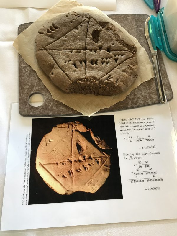 Babylonian tablet in gingerbread