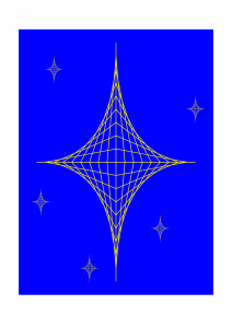 Star, made using parabolic curves in TikZ