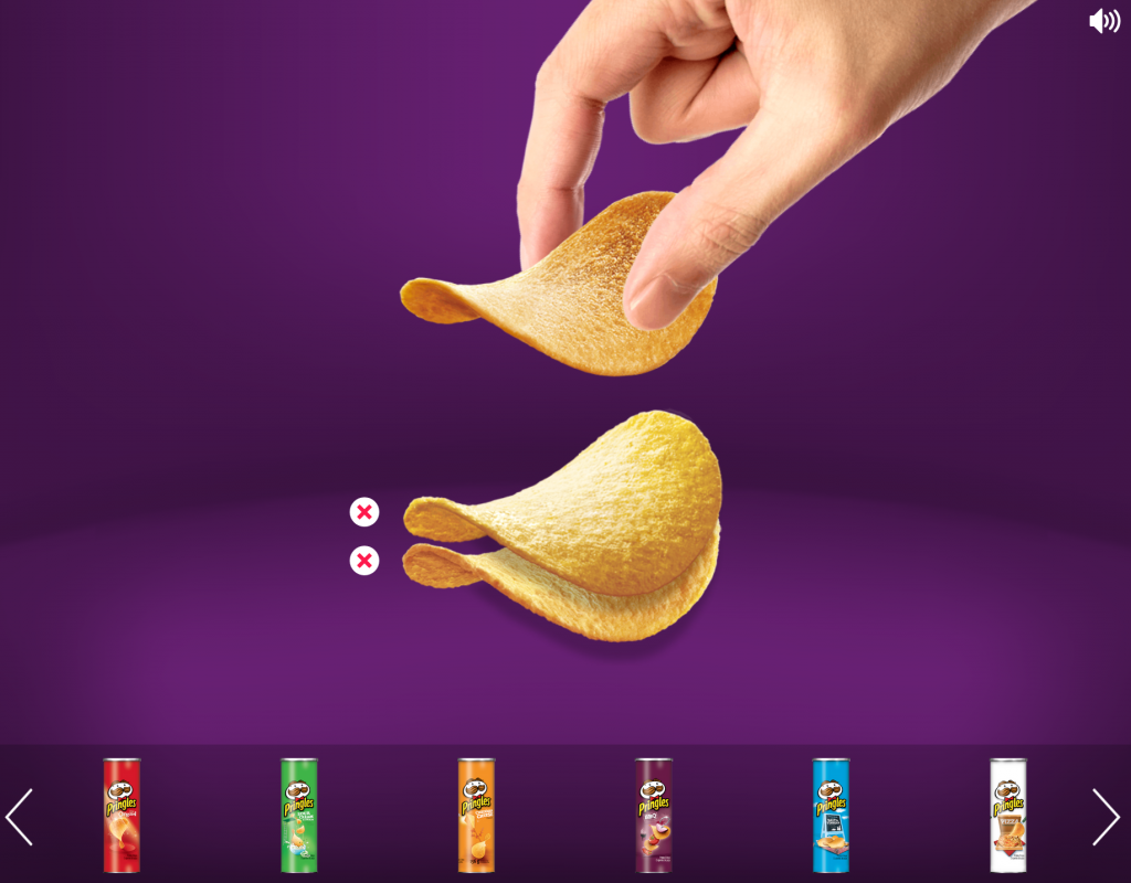 Pringles being stacked