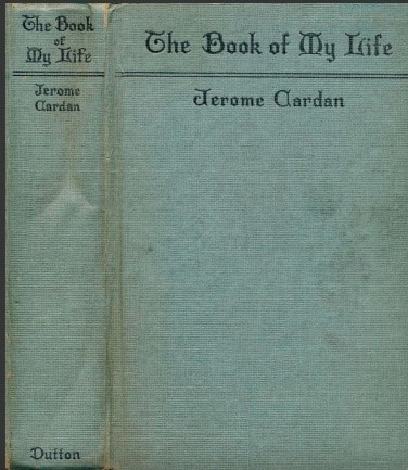 The Book Of My Life - Jerome Cardan (front cover)