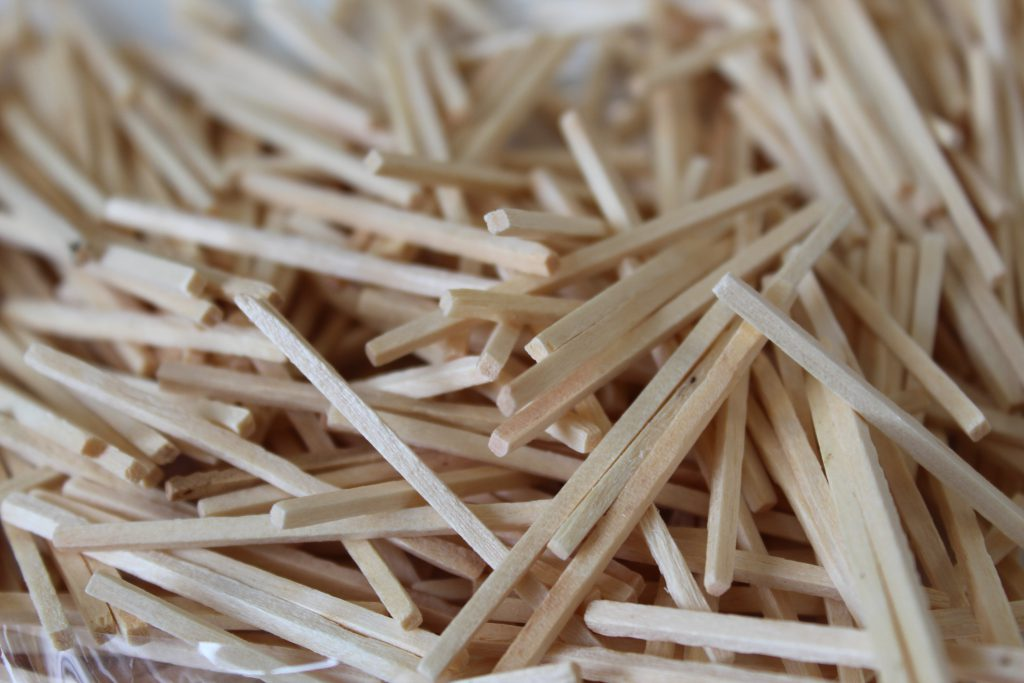 Pile of matchsticks