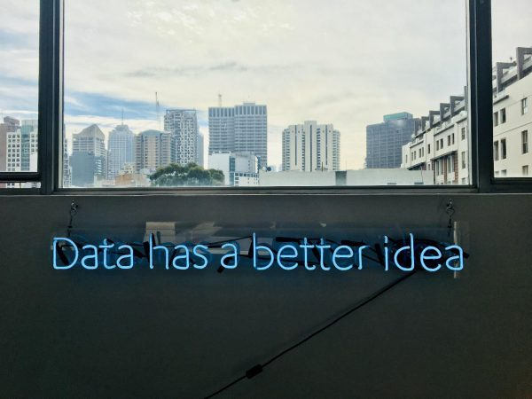 "Sign reading ""Data has a better idea"""