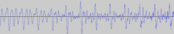 A sound wave from human speech