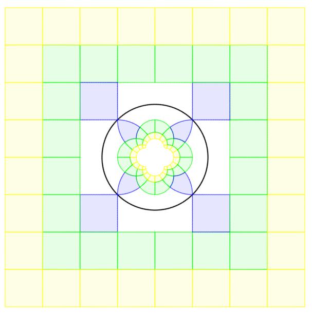 Reflections in Circle original design in Geogebra