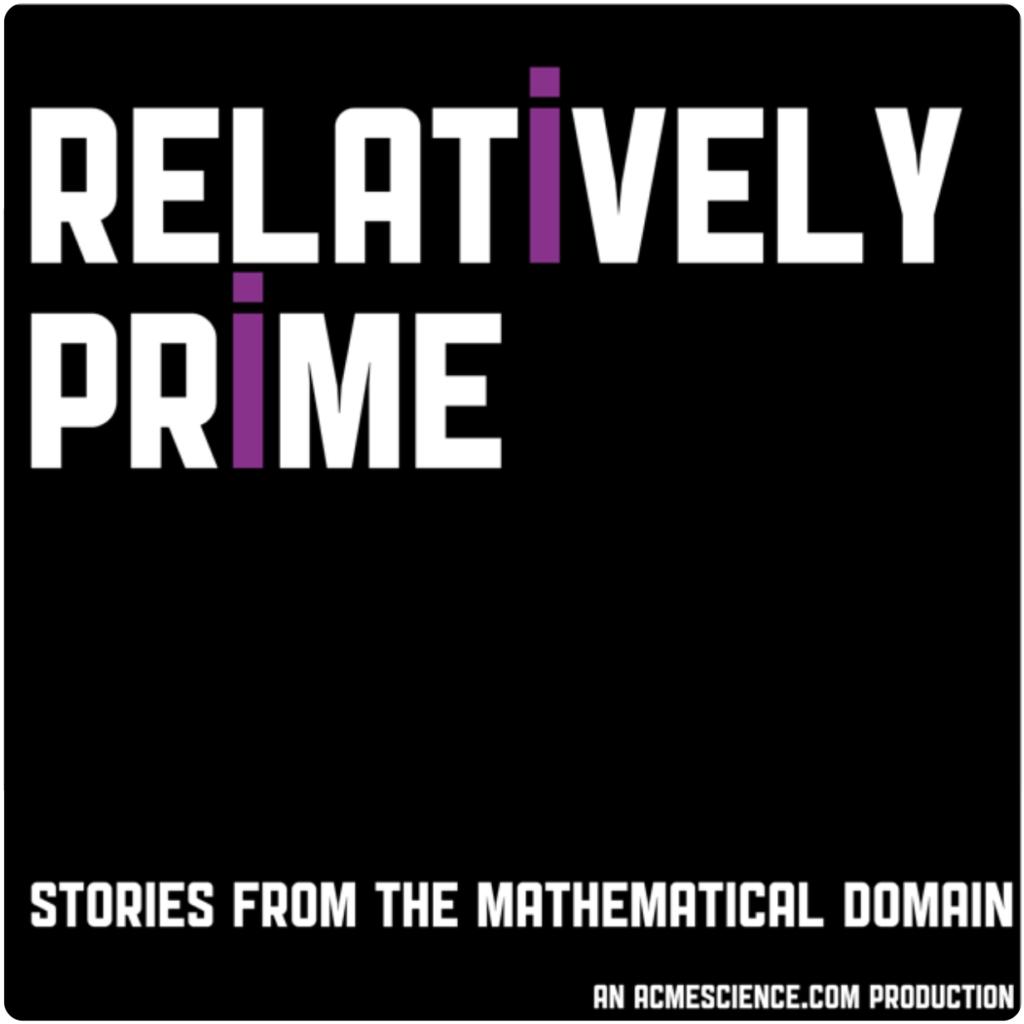Relatively prime podcast logo