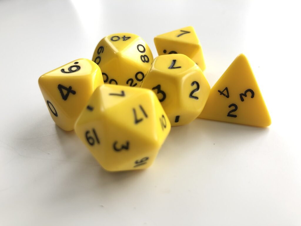 A set of D&D dice