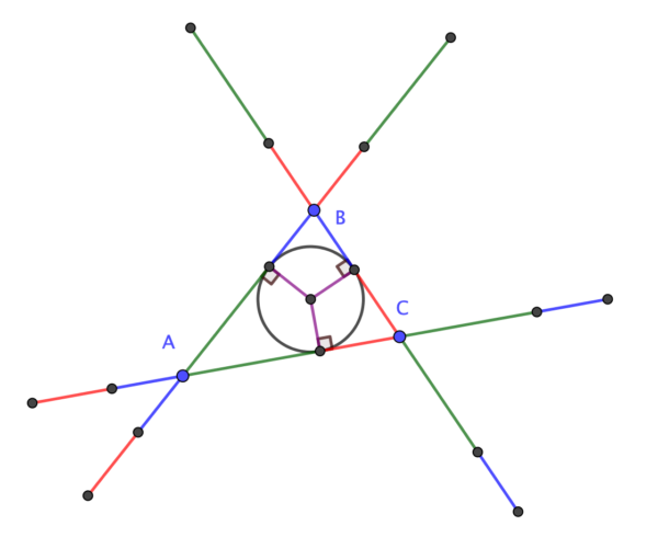 Tangent points bisect segments