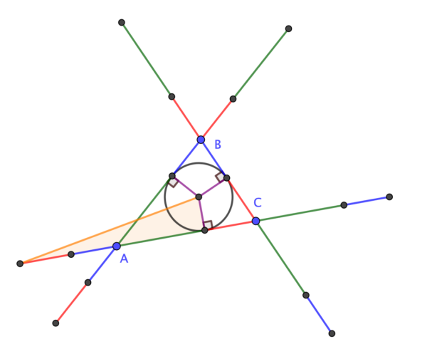 A right-angled triangle
