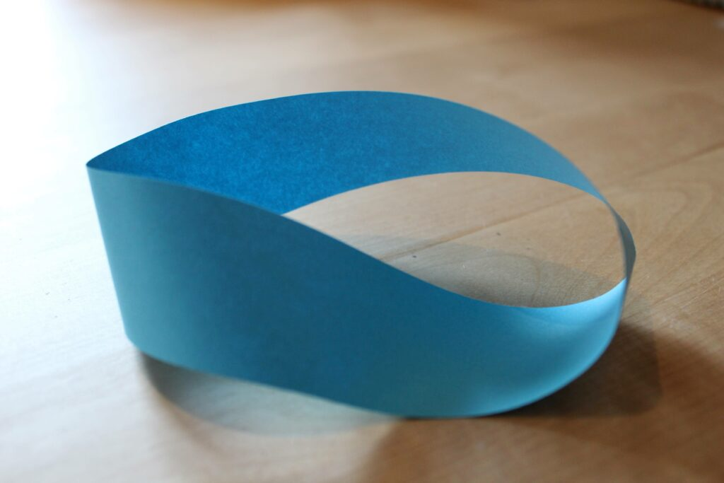 Möbius band made of paper