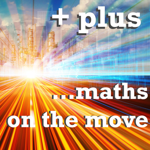 +plus Maths on the Move podcast logo